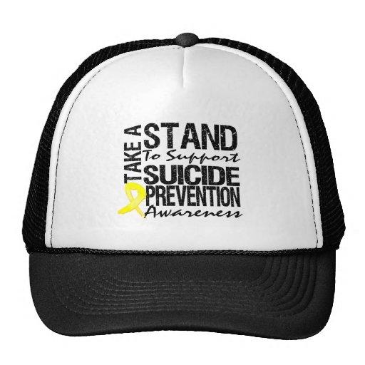 Lleve un soporte la prevención del suicidio de la  gorros