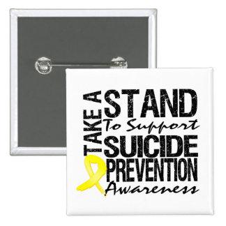 Lleve un soporte la prevención del suicidio de la  pin cuadrado
