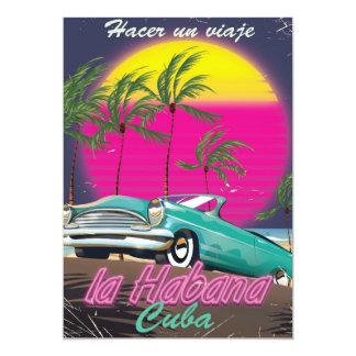 """Lleve un viaje el poster 1985 del reto de Cuba Invitación 5"""" X 7"""""""