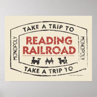 Lleve un viaje la lectura del ferrocarril póster