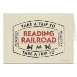 Lleve un viaje la lectura del ferrocarril felicitación