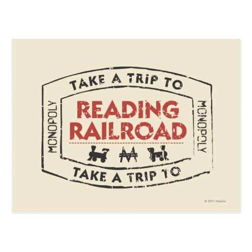 Lleve un viaje la lectura del ferrocarril tarjetas postales