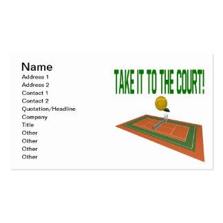 Llévelo la corte tarjetas de visita