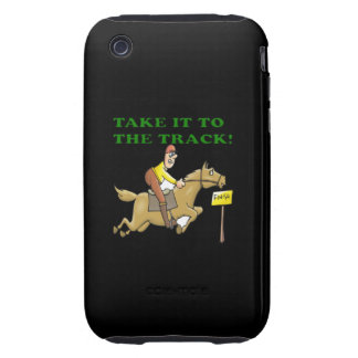 Llévelo la pista tough iPhone 3 fundas