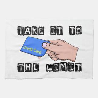 Llévelo la tarjeta de crédito del límite toalla de cocina