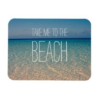 Lléveme a la arena del cielo azul del verano del imán flexible