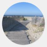 ¡Lléveme a la playa! Pegatina Redonda