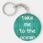 Lléveme al océano llavero redondo tipo pin
