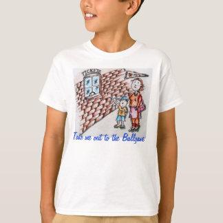 Lléveme hacia fuera a la camiseta del juego de polera