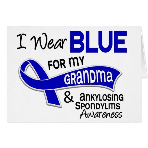 Llevo a la abuela azul 42 Spondylitis Ankylosing Tarjeton