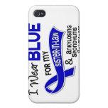 Llevo a la cuñada azul 42 Spondyliti Ankylosing iPhone 4 Carcasa