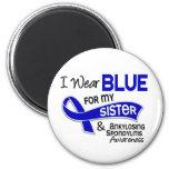 Llevo a la hermana azul 42 Spondylitis Ankylosing Imanes Para Frigoríficos