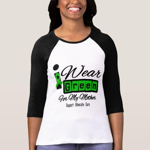 Llevo a la madre verde de la cinta (retra) - camisetas