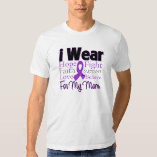 Llevo a la mamá púrpura del collage - cáncer camisas