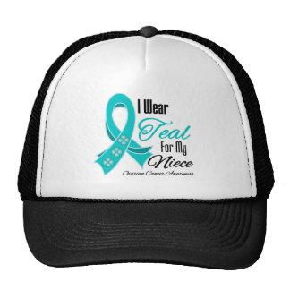 Llevo a la sobrina del cáncer ovárico de la cinta gorros bordados