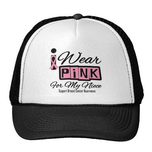Llevo a la sobrina rosada del cáncer de pecho (ret gorro