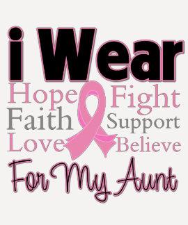 Llevo a la tía rosada del collage - cáncer de playeras