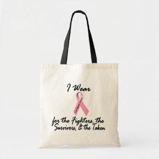Llevo a los supervivientes rosados de los combatie bolsas lienzo