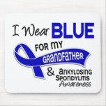 Llevo al abuelo azul 42 Spondylitis Ankylosing Alfombrillas De Raton