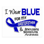 Llevo al abuelo azul 42 Spondylitis Ankylosing Tarjetas Postales