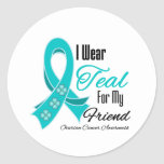 Llevo al amigo del cáncer ovárico de la cinta del  etiquetas