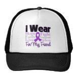 Llevo al amigo púrpura del collage - cáncer pancre gorra