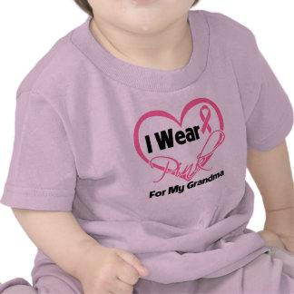 Llevo al cáncer de pecho rosado de la abuela de la camisetas