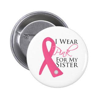Llevo al cáncer de pecho rosado de la hermana pins
