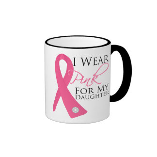 Llevo al cáncer de pecho rosado de la hija taza de dos colores