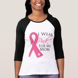 Llevo al cáncer de pecho rosado de la mamá camiseta