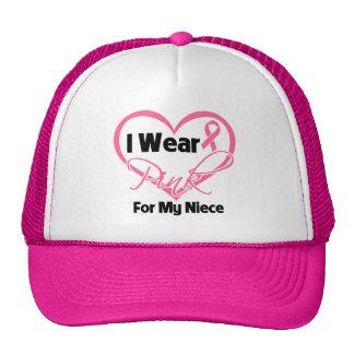 Llevo al cáncer de pecho rosado de la sobrina de l gorras