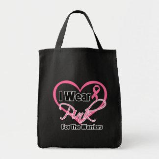 Llevo al cáncer de pecho rosado de los guerreros d bolsas