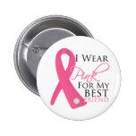 Llevo al cáncer de pecho rosado del mejor amigo pin