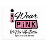 Llevo al cáncer de pecho rosado para ganar mi postal