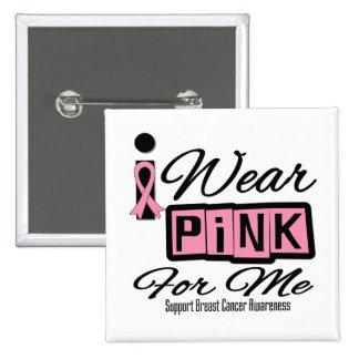 Llevo al cáncer de pecho rosado para mí retro pins