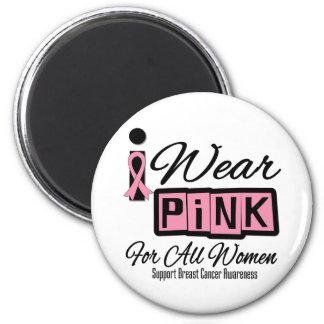 Llevo al cáncer de pecho rosado para todas las muj imanes