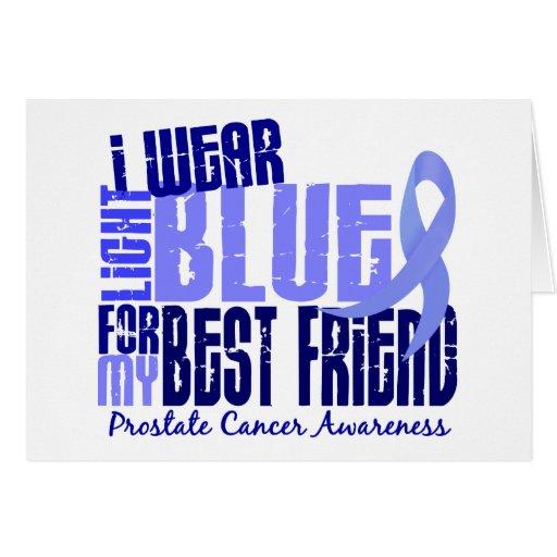 Llevo al cáncer de próstata azul claro del mejor a tarjetas