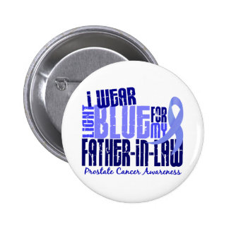 Llevo al cáncer de próstata de Lt Blue Father-in-l Pin Redondo 5 Cm