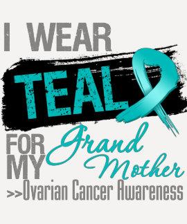 Llevo al cáncer ovárico de la abuela de la cinta camiseta