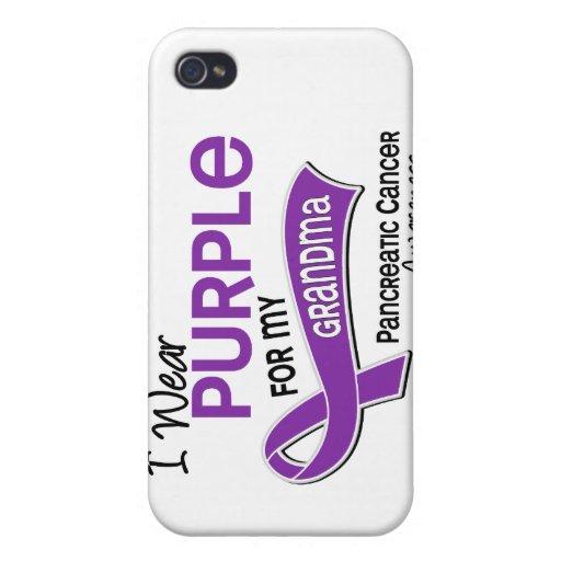 Llevo al cáncer pancreático de la abuela de la púr iPhone 4 fundas