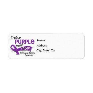 Llevo al cáncer pancreático de la mamá de la púrpu etiquetas de remite