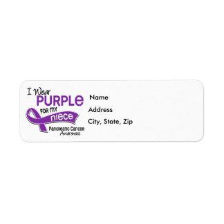 Llevo al cáncer pancreático de la sobrina de la pú etiqueta de remitente
