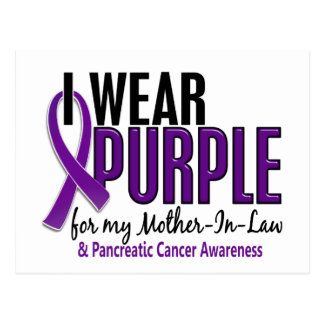 Llevo al cáncer pancreático de la suegra 10 púrpur tarjeta postal