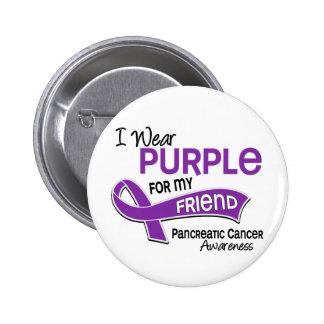 Llevo al cáncer pancreático del amigo de la púrpur pin redondo 5 cm