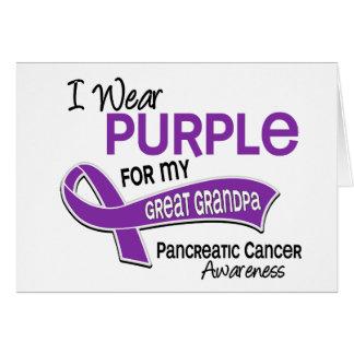 Llevo al cáncer pancreático del gran abuelo de la  felicitaciones