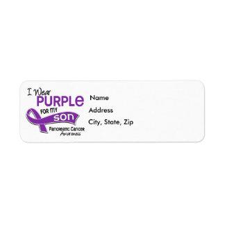 Llevo al cáncer pancreático del hijo de la púrpura etiqueta de remitente