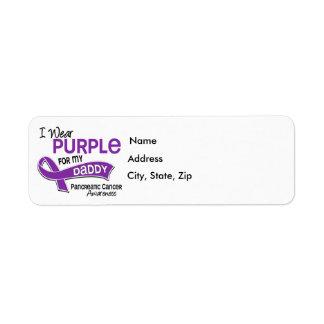 Llevo al cáncer pancreático del papá de la púrpura etiqueta de remitente