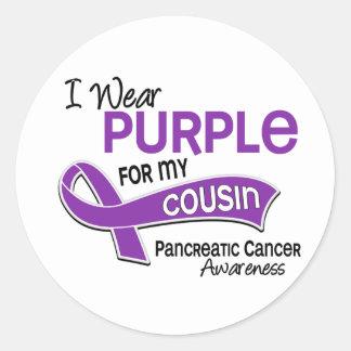 Llevo al cáncer pancreático del primo de la pegatina redonda