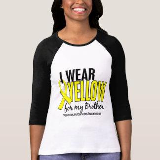 Llevo al cáncer testicular de Brother 10 amarillos Camiseta