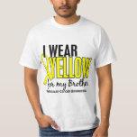 Llevo al cáncer testicular de Brother 10 amarillos Remeras
